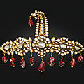 'the nizams of hyderabadsarpech'. an antique diamond, spinel, pearl and enamelsarpech