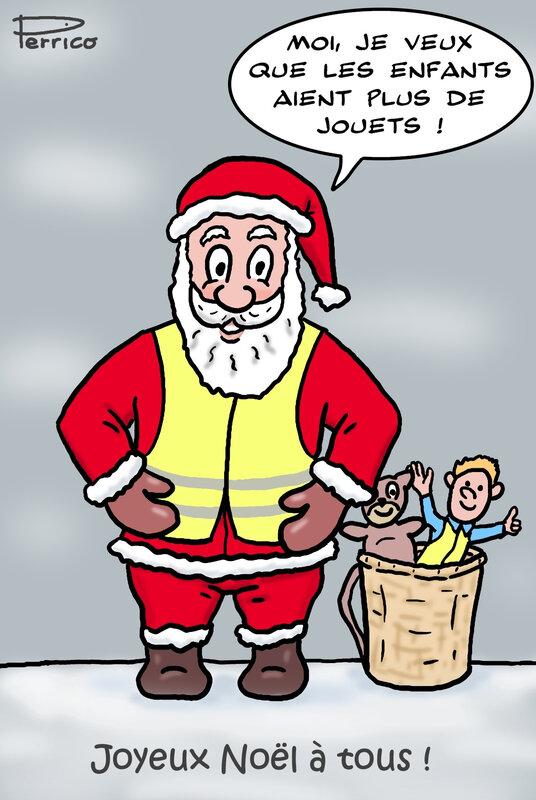 Père Noël en gilet jaune 22 déc