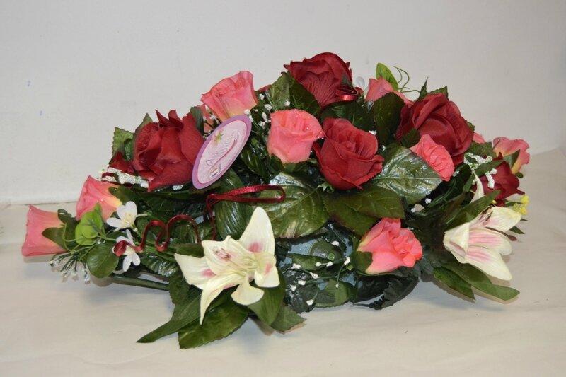 coussin long fleurs artificielles (2)