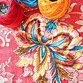 Appliques motifs de fleurs
