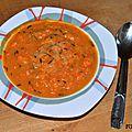 Soupe acidulée aux carottes