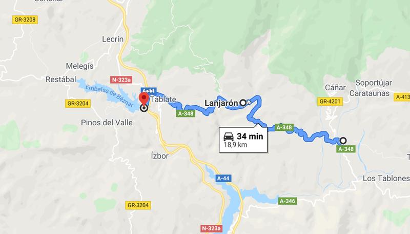 Órgiva à Lecrín, Espagne