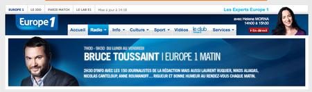 Bruce Toussaint Europe1