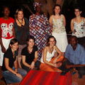 Photo de groupe avec Amélie, Jean-Baptiste et sa fille Marie