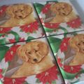 Puppy gift coasters