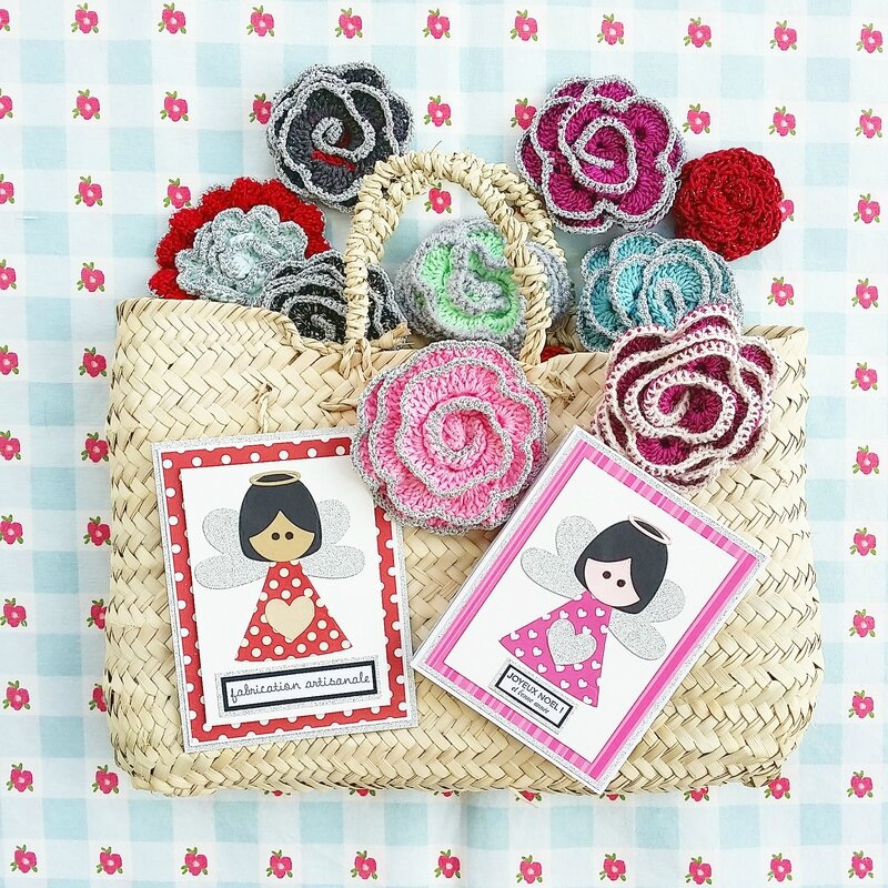 vanillejolie ange crochet papier