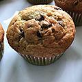 Muffins à la banane aux pépites de chocolat (au thermomix ou sans)