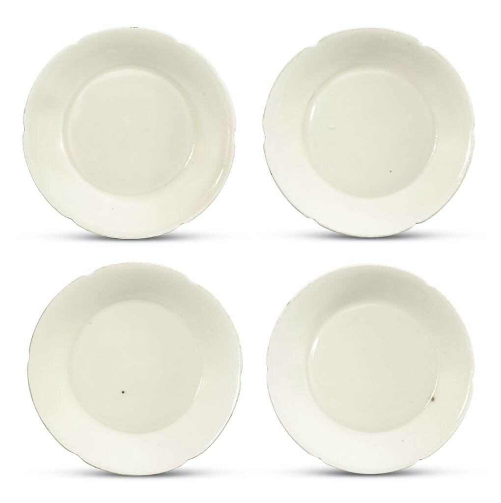 Four small Ding foliate-rimmed dishes, Northern Song dynasty (960-1127)