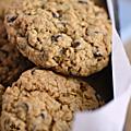 Divins cookies aux flocons d'avoine très riches en pépites de chocolat