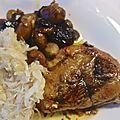 Une garniture : oignons grelots, châtaignes, pruneaux