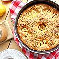 Gâteau aux pommes caramelisées & éclats de noisettes