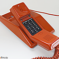 Vintage ... téléphone orange thomson * contempra
