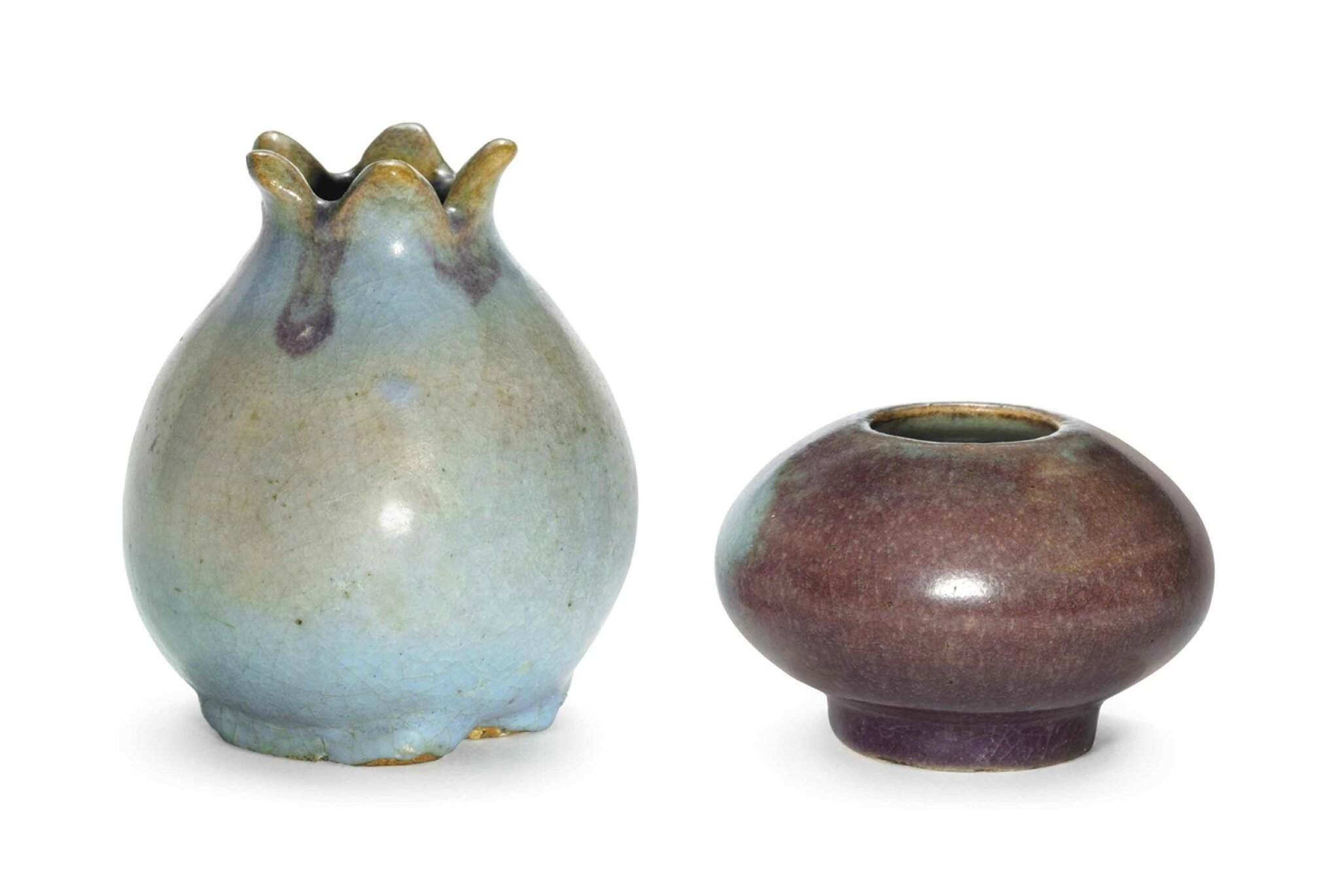 Two small 'Ma Jun' water pots, Ming dynasty (1368-1644) or later