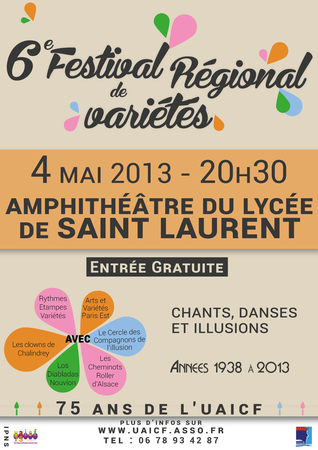 Affiche 2 festival Saint Laurent 2013