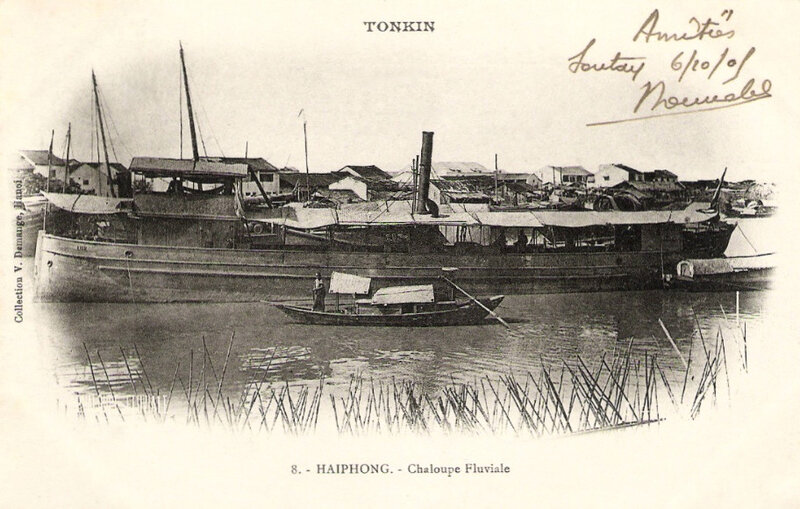 Haïphong, chaloupe fluviale