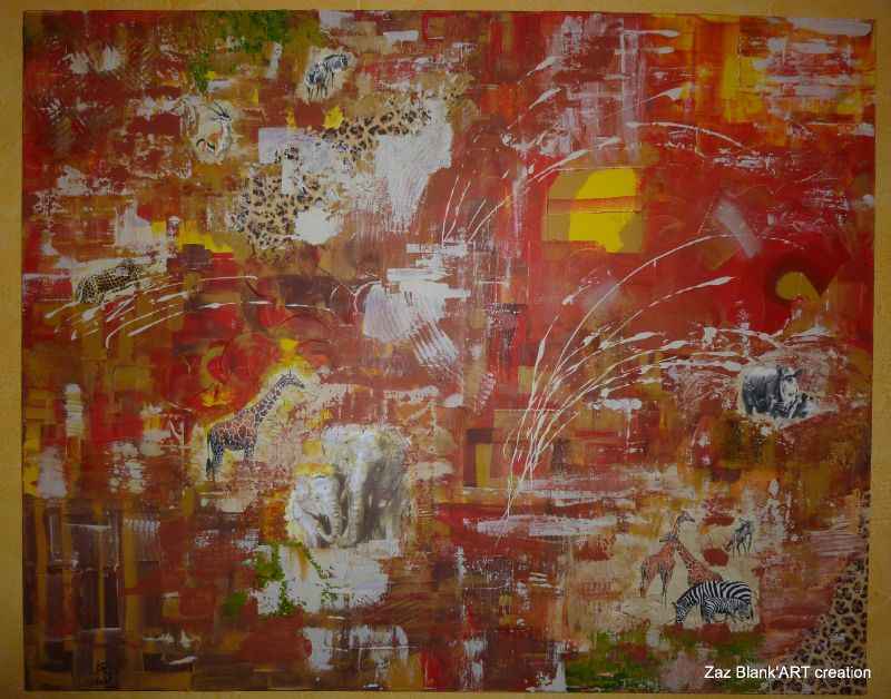 Honeymoon in Africa. Acrylique sur toile 100x80, 800€