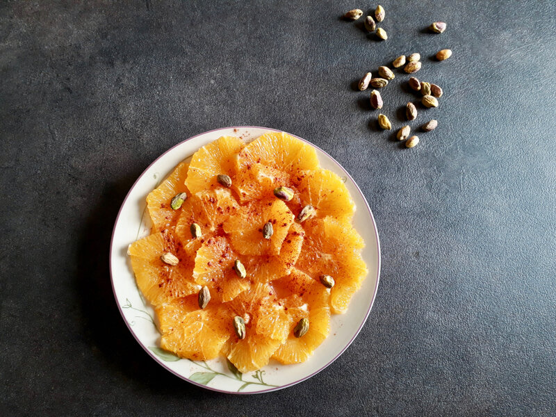 salade oranges cannelle pistaches