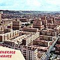 Centre ville reconstruit entre 1945 et 1964 sous la houlette d'Auguste Perret