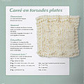#tricot : plaid mes création tricot facile; 29 carré en torsades plates