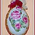 Œuf Pâques décoré serviettage 13