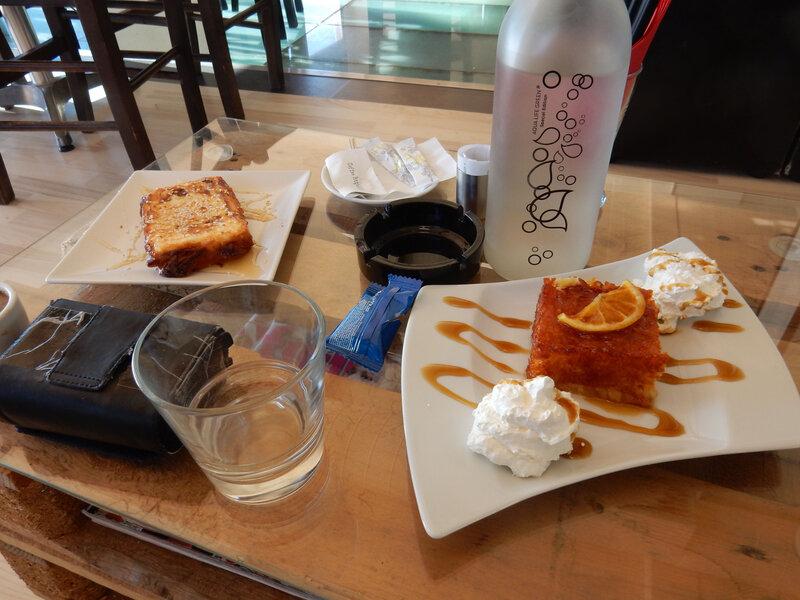 Feta grillée et gâteau grec à l'orange, 261017