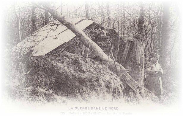 Bois de Bouvigny - Un poilu...