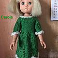 Carole et sa réa de la robe vert sapin