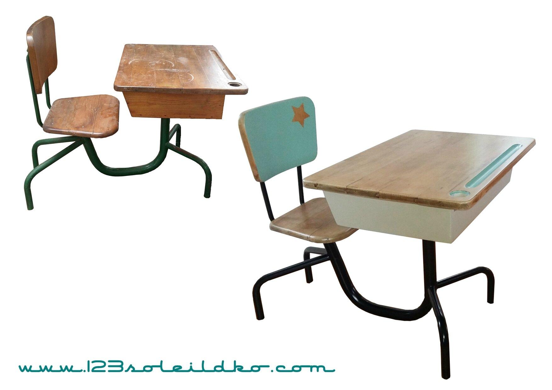 bureau d'écolier style Jean Prouvé