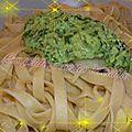 Tagliatelle et pesto au cresson