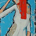 portrait de femme dalhia