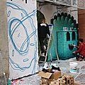 Graffeurs place de la bourse