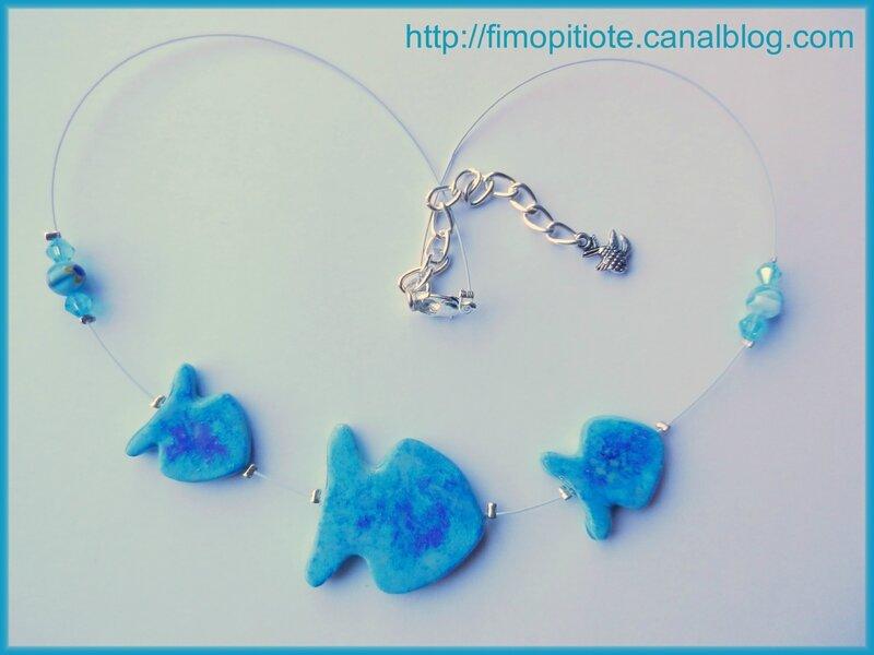 bracelet collier boucles d'oreilles pate fimo bijoux (6)