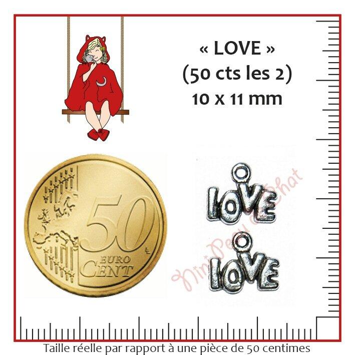 Love 10 x 11 mm