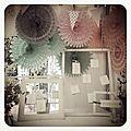 Saison 2012 : mariage de rosaces en papier pour un esprit guinguette