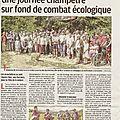 Fete de la nature : article de presse de ce jour.