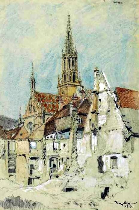 Scott eglise de Thann 1917