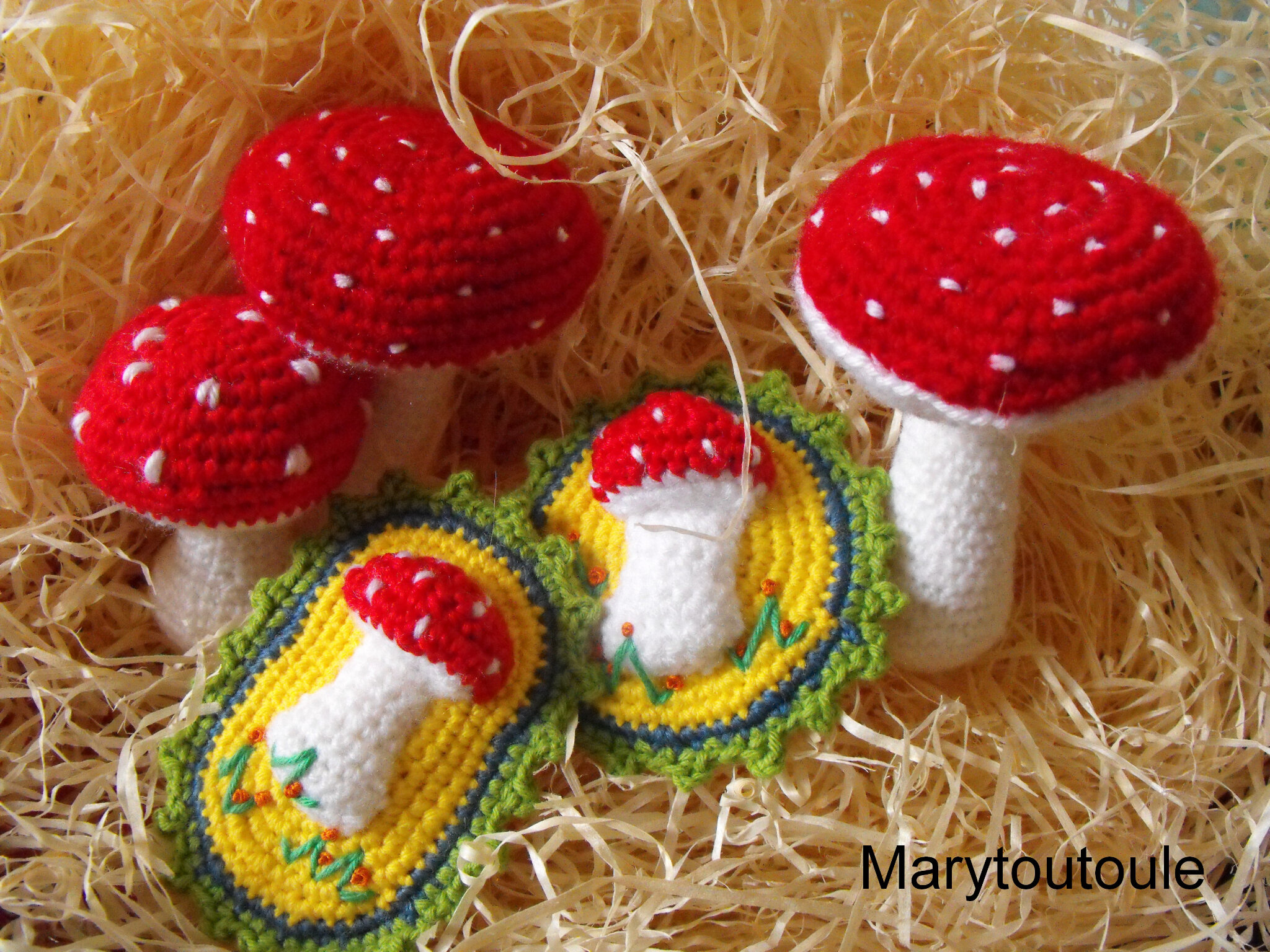 Broches et champignons