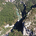 Les gorges du verdon et moustiers saintes maries