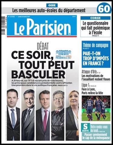 le parisien 20 mars 2017