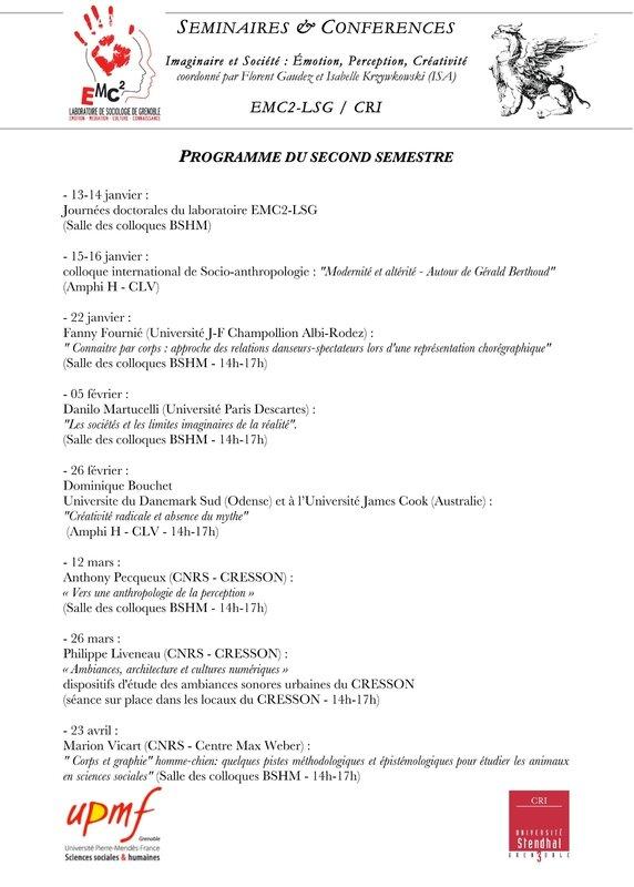 affichette Programme S2 - EMC2-CRI