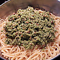 Linguine au pesto de courgettes