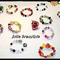 Bracelets colorés...