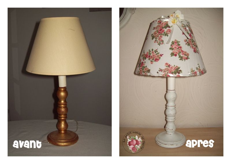 Lampe chinée relookée Shabby...