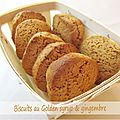 Biscuits au golden syrup et gingembre