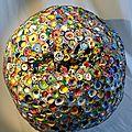 Hervé THAREL SCHMIMBLOCK'S erda 2015 - acrylique sur argile Ø ± 30cm 20