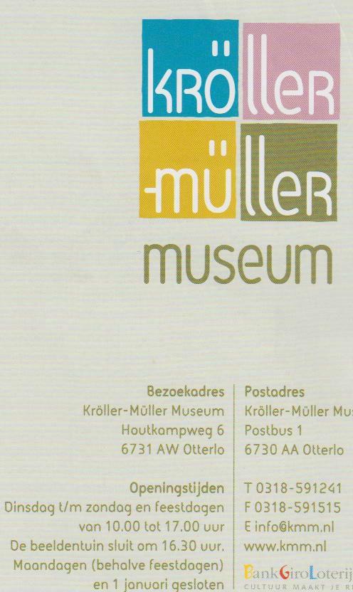 Kröller-Müller Museum - brochure 1