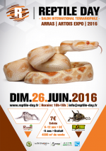 Affiche Reptile Day Salon international terrariophile, Saint Laurent Blangy, Arras