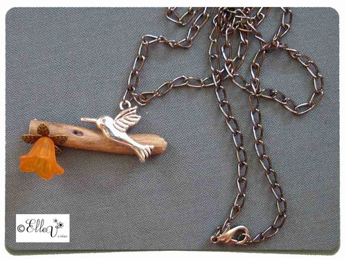 Collier perchoir orange2