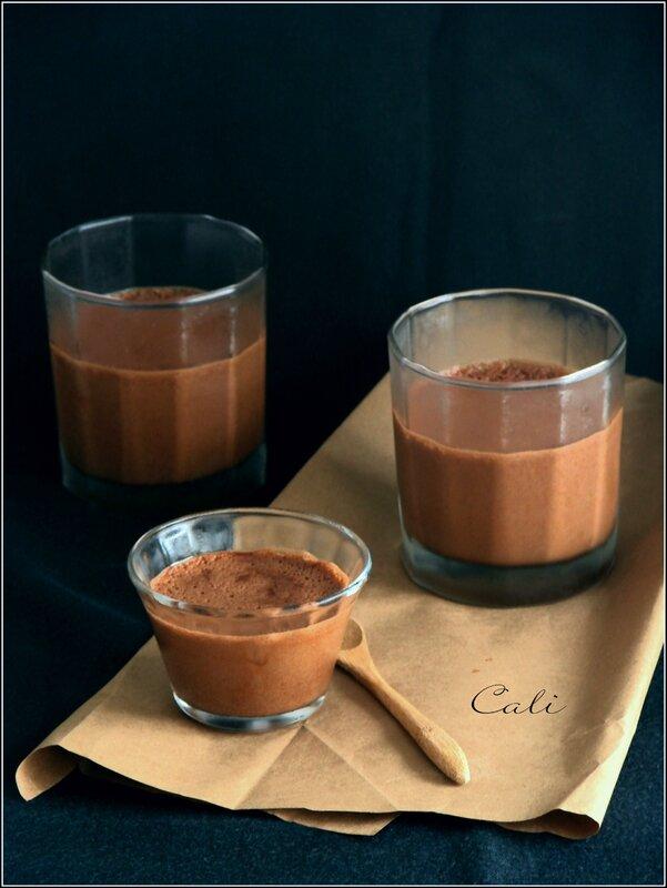 Mousse au Chocolat & à l'Amande, Sans Oeufs 001
