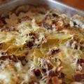 Gratin pommes de terre/courgette aux noisettes et lait d'amande